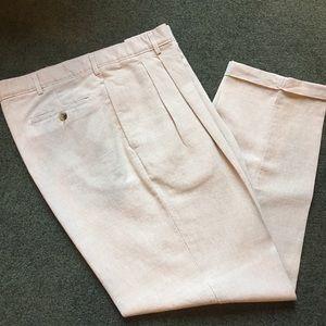 Men's Club Room pleated cuffed dress pants.